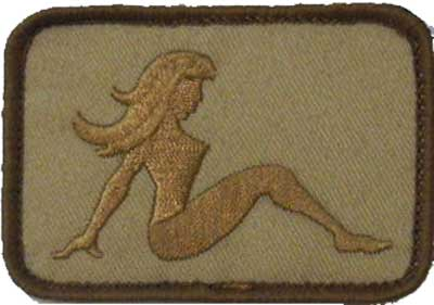 Sexy Girl Patch - Tan