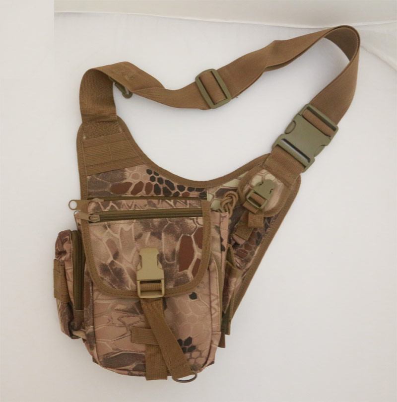 Tactical Lightweight Utility Shoulder Pack - Python Snake Camo - MAD
