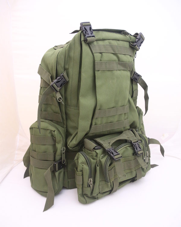 3-Day MOLLE Assault Backpack w/ 3 Pouch - OD