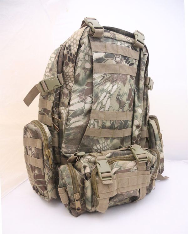 3-Day MOLLE Assault Backpack w/ 3 Pouch - Python Snake Camo HLD Highland
