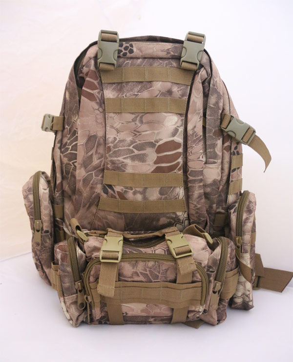 3-Day MOLLE Assault Backpack w/ 3 Pouch - Python Snake Camo MAD