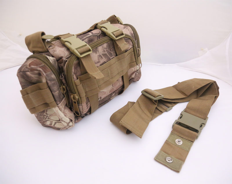 Tactical Waist Butt Shoulder Pack - Python Snake Camo - MAD