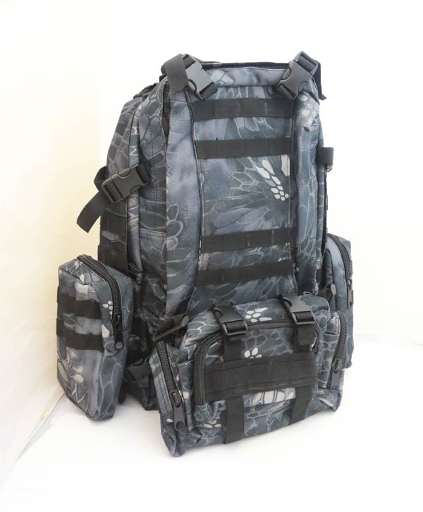 3-Day MOLLE Assault Backpack w/ 3 Pouch - Python Snake Camo TYP Night Urban Marines