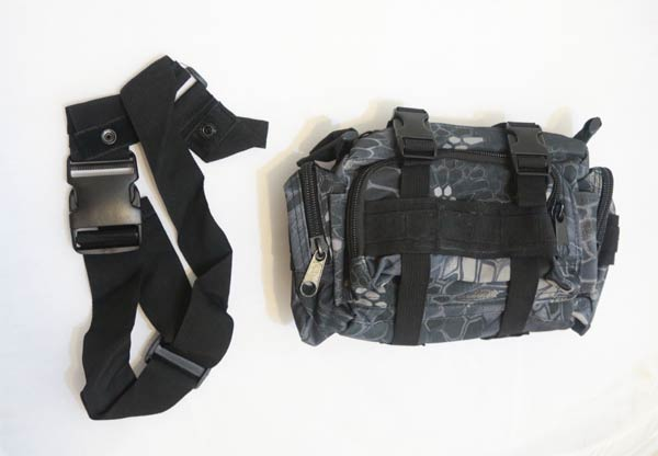 Tactical Waist Butt Shoulder Pack - Python Snake Camo - TYP Night Urban Marines