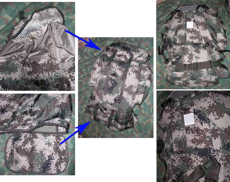 China PLA Type 07 Digital Universal Camo Back Pack - Large