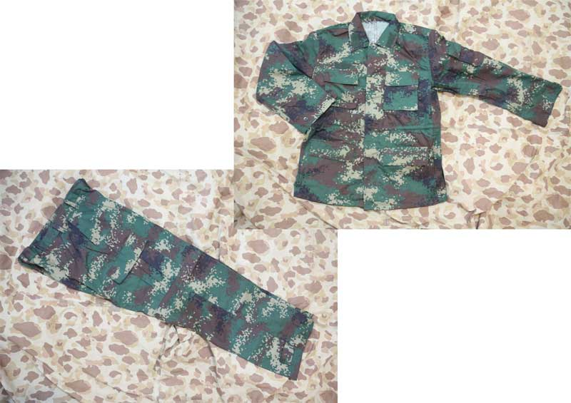 China PLA Type 07 Digital Woodland Second Artillery Force Camo Shirt Pants set