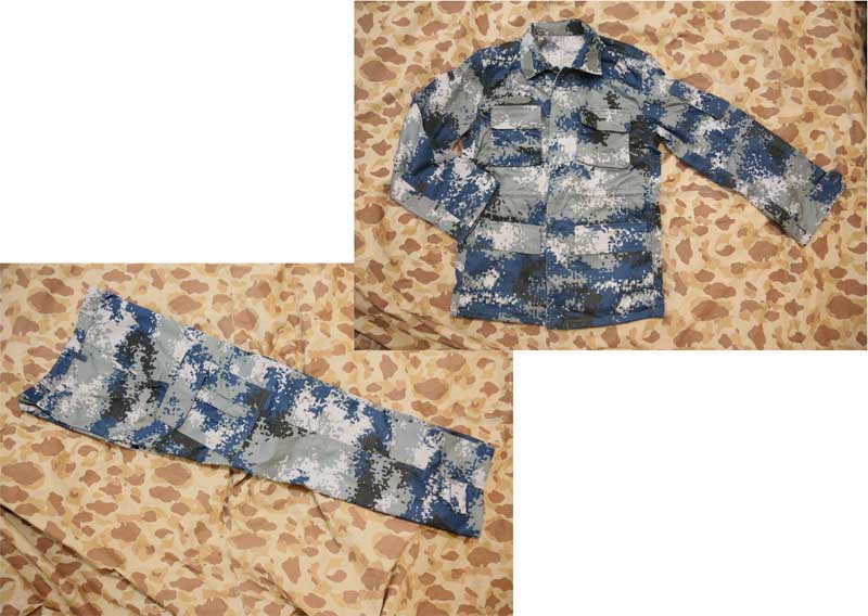 China PLA Type 07 Digital Urban City Air Force Camo Shirt Pants set