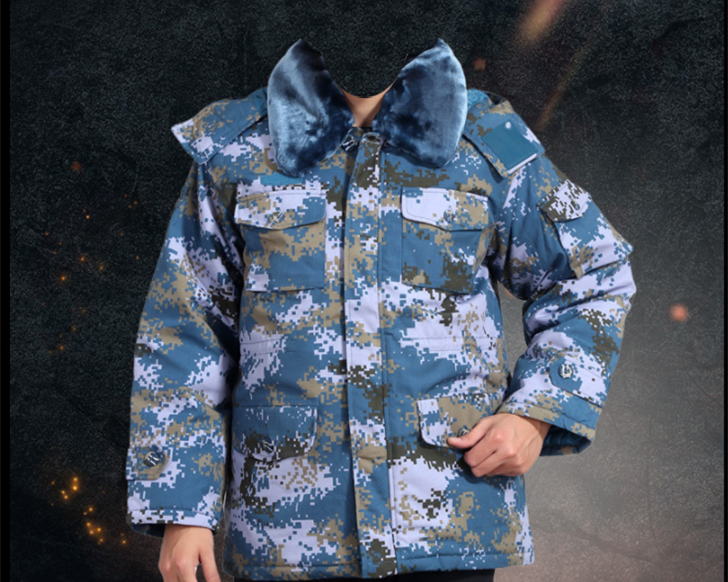 China PLA Type 07 Digital Ocean Marine Camo – Hood Jacket