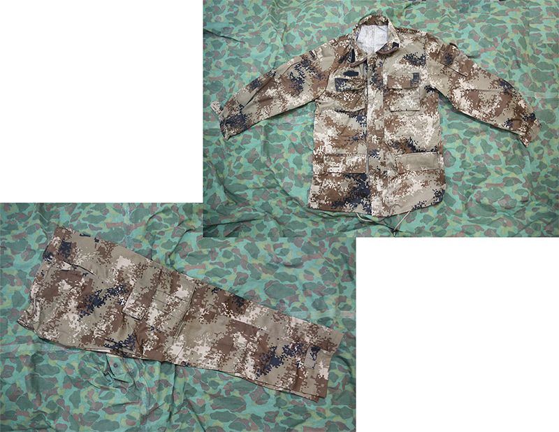 China PLA Type 07 Digital Highland Desert Camo Shirt / Pants set - Winter Version