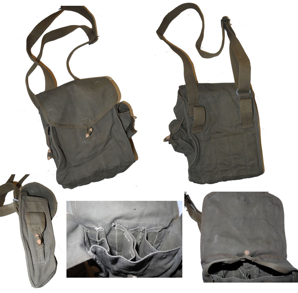 China PLA Magazine Pouch for AK / Type 56 / 7.62 Machine Gun Magazine – Khaki
