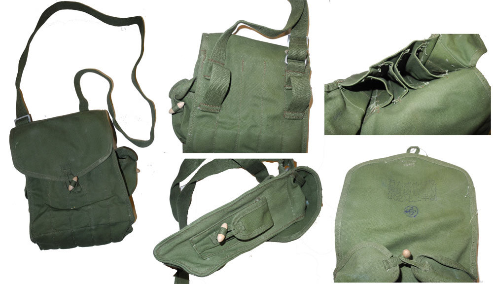 China PLA Magazine Pouch for AK / Type 56 / 7.62 Machine Gun Magazine – Green