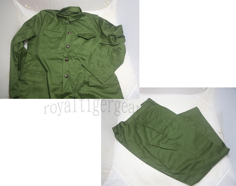 China PLA Type 65 Green Shirt Tunic Pants set