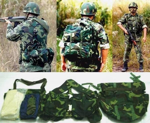 China PLA Type 99 Webbing Gear Pack Sets