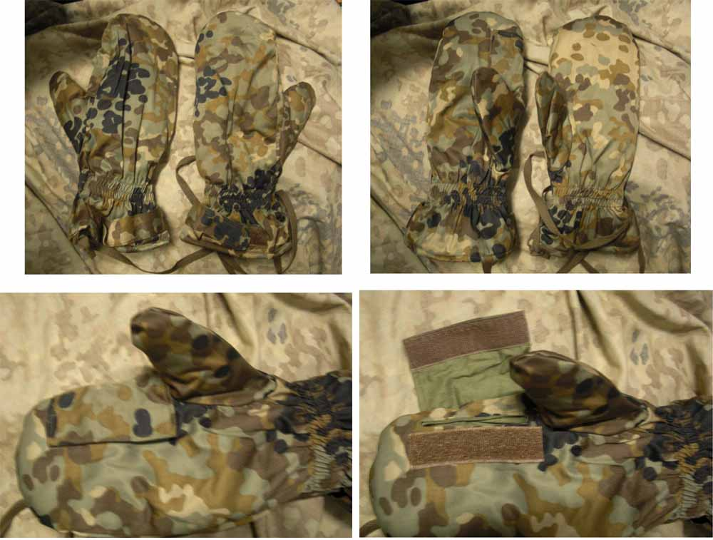 "China PLA Type 03 Plateau ""Tibet-tarn"" Highland Camo Heavy / Outer Gloves"