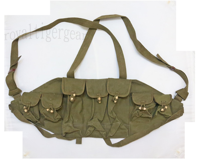 China PLA Type 56 AK-47 Ammo Vest - Khaki