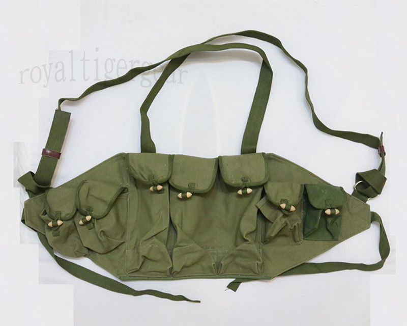 China PLA Type 56 AK-47 Ammo Vest - OD