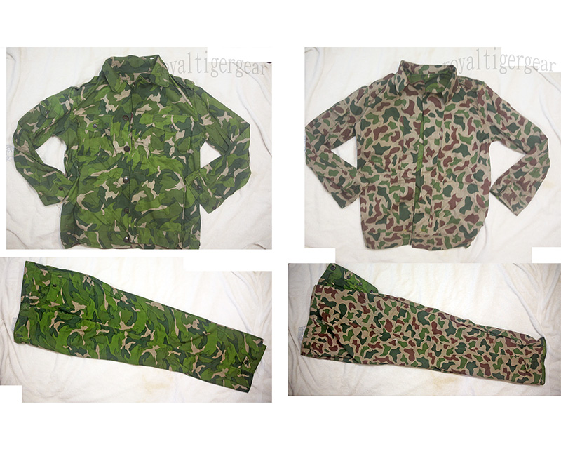 China PLA Type 81 Vietnam Double Side Reversible Leaf Camo Shirt Pants set