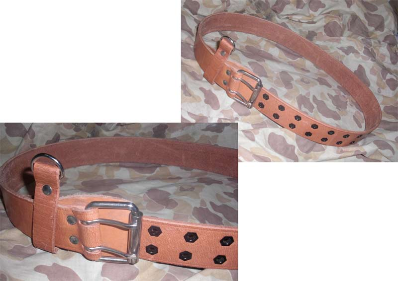 China PLA Double Buckle Pistol Sam Leather Belt
