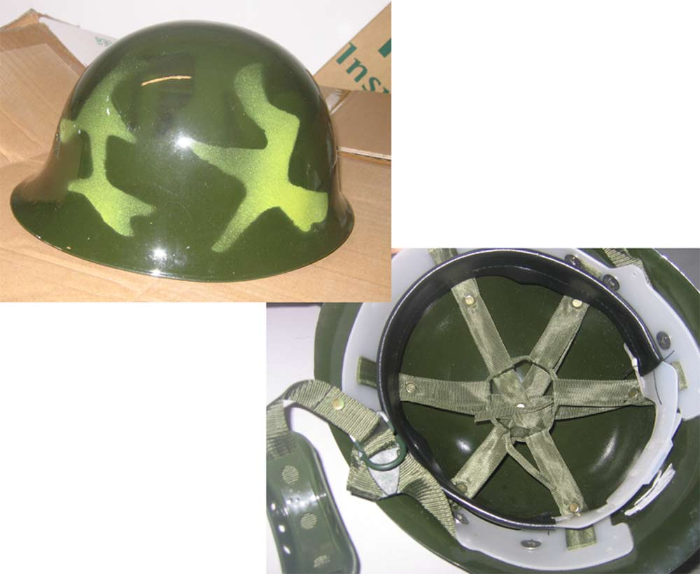 China PLA Camo Steel Helmet
