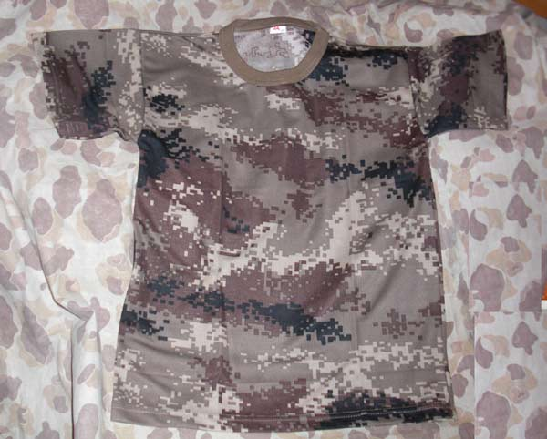 China PLA Type 07 Digital Highland Desert Camo T-Shirt