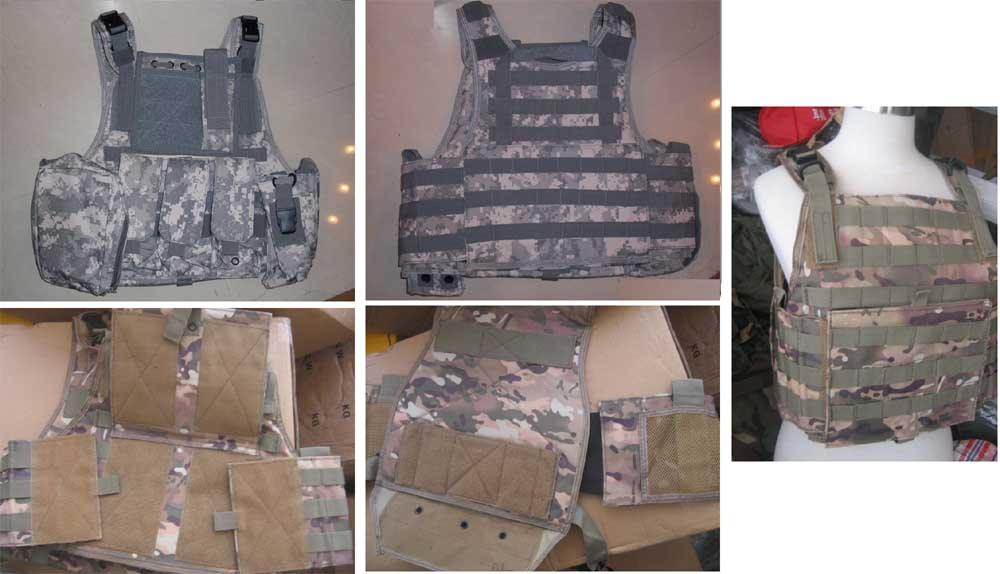 Tactical PC Plate Carrier Vest w/ Pouches – ACU