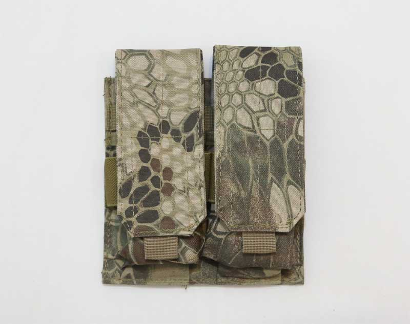 Double M4 Ammo Mag MOLLE Pouch - Python Snake Camo HLD Highland