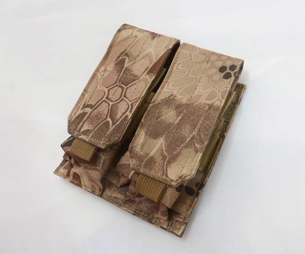 Double M4 Ammo Mag MOLLE Pouch - Python Snake Camo MAD