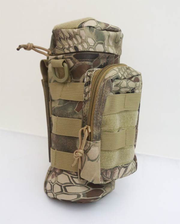 Tactical Bottle MOLLE Pouch - Python Snake Camo HLD Highland