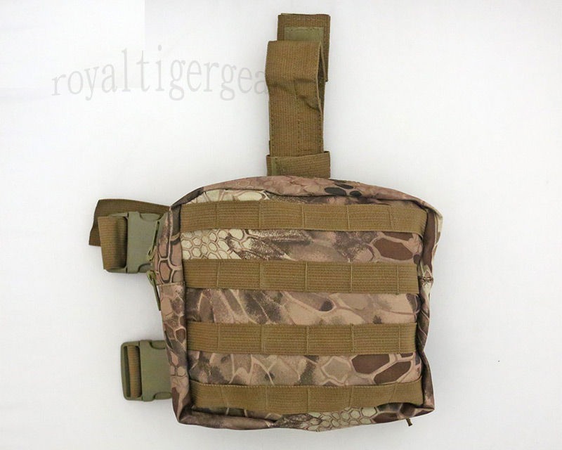 Tactical Drop Leg MOLLE Pouch - Python Snake Camo MAD