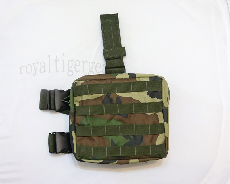 Tactical Drop Leg MOLLE Pouch - US Woodland