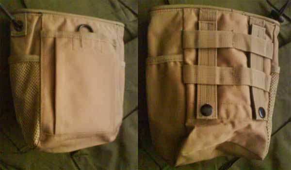 Small Drop Dump MOLLE/Belt Pouch - Tan