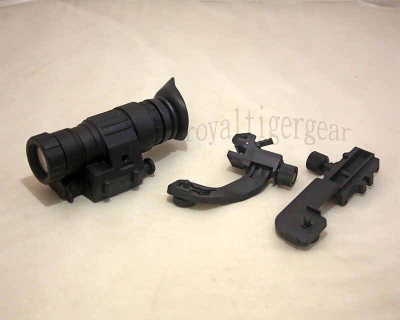 AN/PVS-14 Functional NVG Infrared with Mount Shroud Set for Helmet – Black