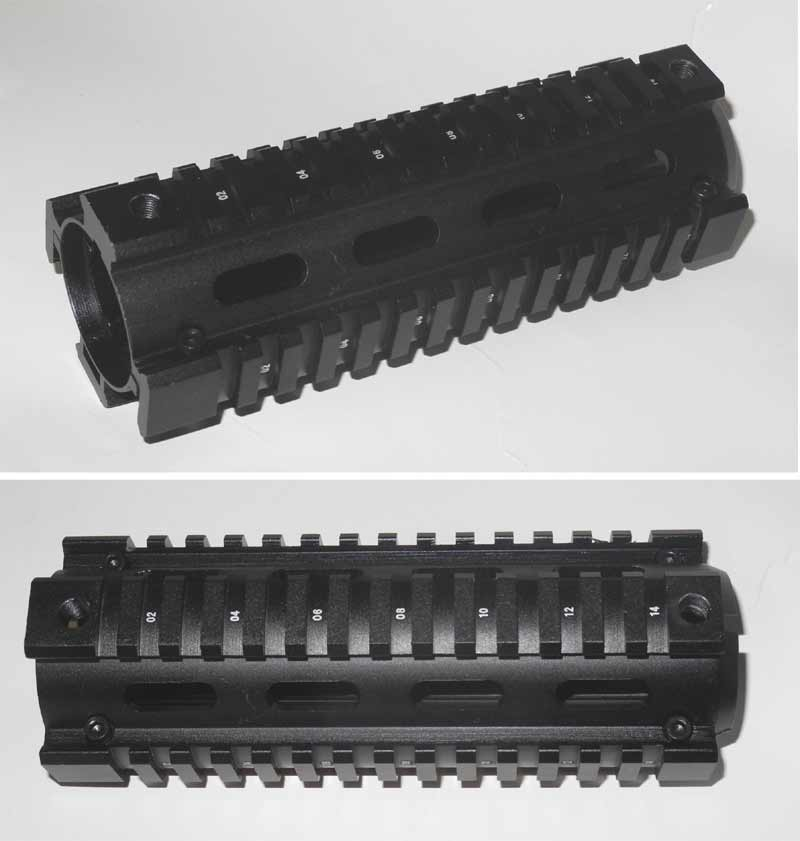 M4 RIS CQB Handguard – Upper Lower Part - CNC Aluminum - Black