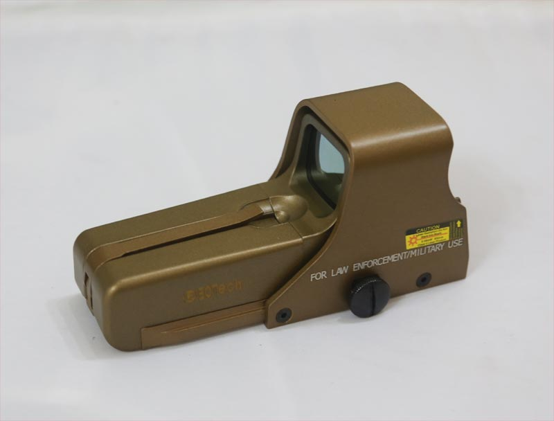 Tactical 552 Red & Green Dot Holographic Weapon Sight - Golden