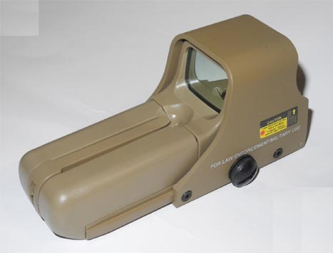 Tactical 552 Red & Green Dot Holographic Weapon Sight - Tan