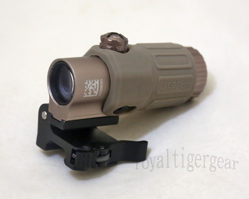 G33T Tactical 3x Magnifier Scope w/ 90-Turn Fast-Release Mount - Dark Earth