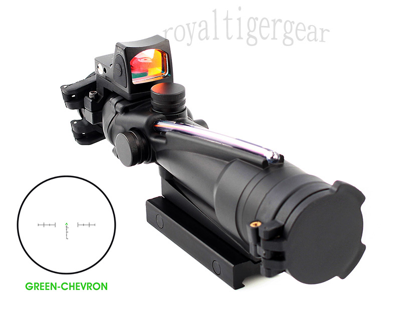 ACOG 3.5x35 Real Fiber Optics Riflescope w/ KillFlash Cover RMR Red Dot Sight - Green Chevron