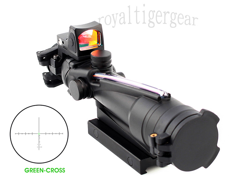 ACOG 3.5x35 Real Fiber Optics Riflescope w/ KillFlash Cover RMR Red Dot Sight - Green Cross