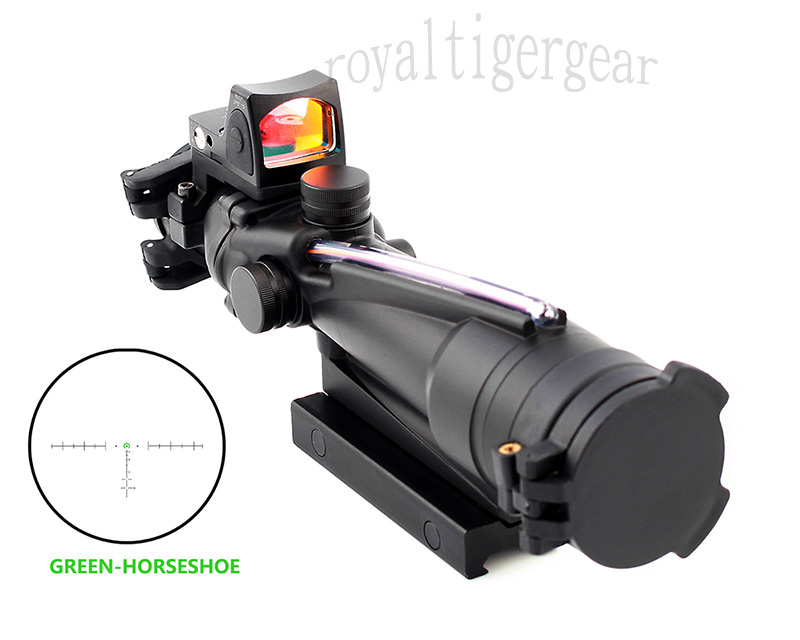 ACOG 3.5x35 Real Fiber Optics Riflescope w/ KillFlash Cover RMR Red Dot Sight - Green Horseshoe