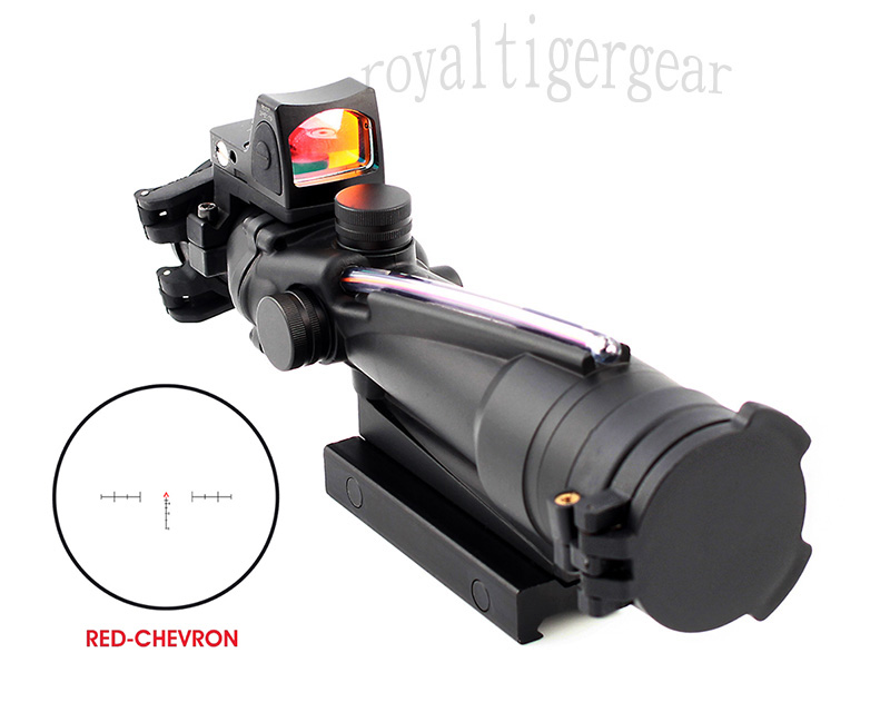 ACOG 3.5x35 Real Fiber Optics Riflescope w/ KillFlash Cover RMR Red Dot Sight - Red Chevron