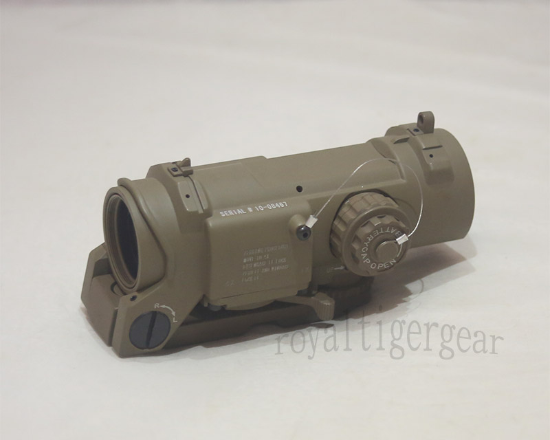 ELCAN SpectorDR style 4X Scope Red Dot Sight - Dark Earth