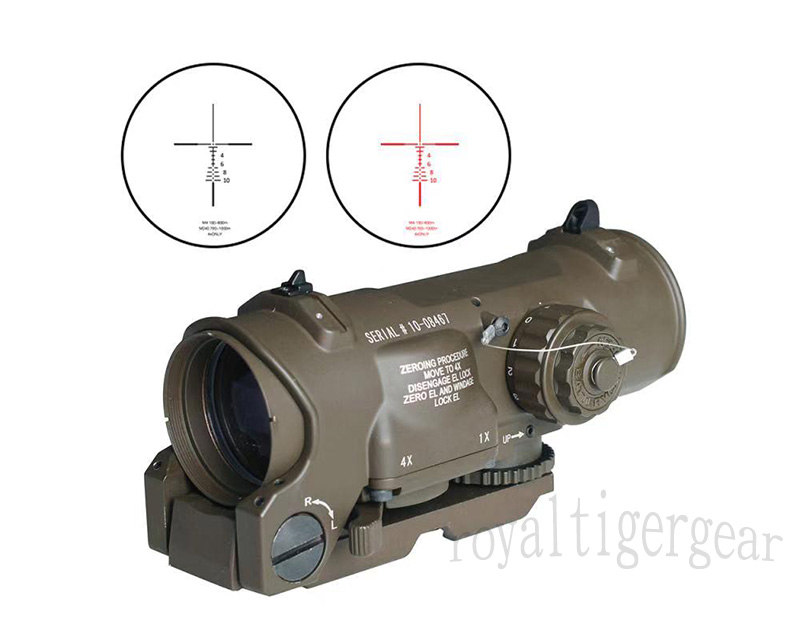 ELCAN New SpectorDR style 4X Scope Red Dot Sight - OD