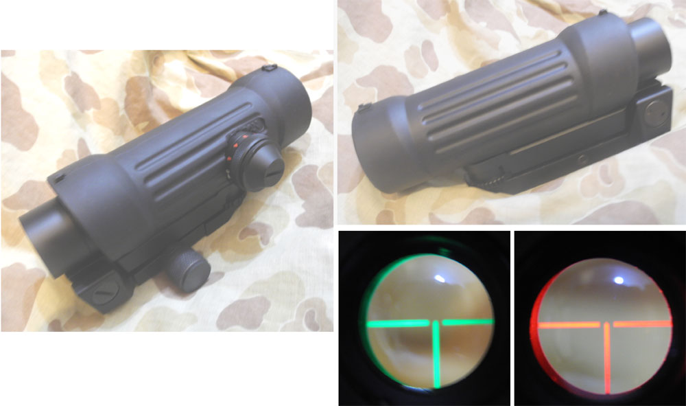 EAIMING ELCAN 4X Tactical Scope w/ Red/ Green Dot Sight
