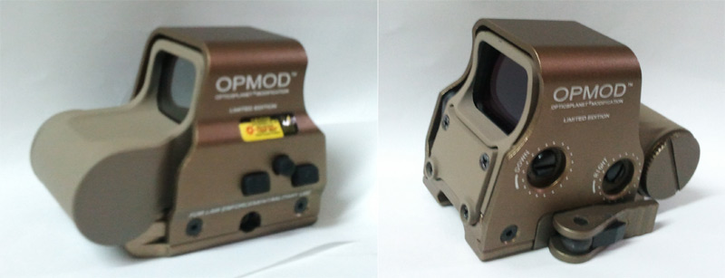 Tactical XPS-2 556 Red & Green Dot Holographic Weapon Sight - Side Switch - Tan
