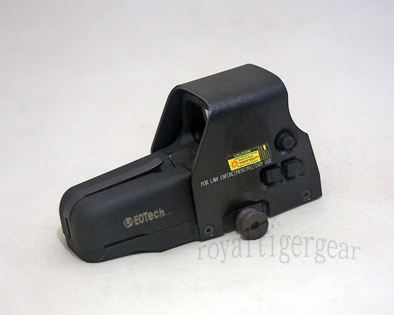 Tactical 557 Red & Green Dot Holographic Weapon Sight - Side Switch - Black