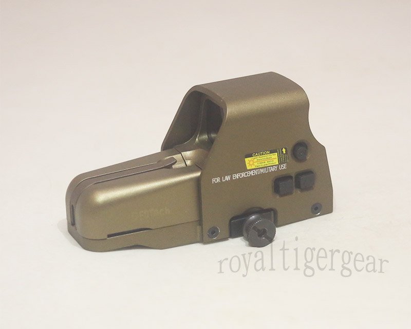 Tactical 557 Red & Green Dot Holographic Weapon Sight - Side Switch - Metal Dark Earth