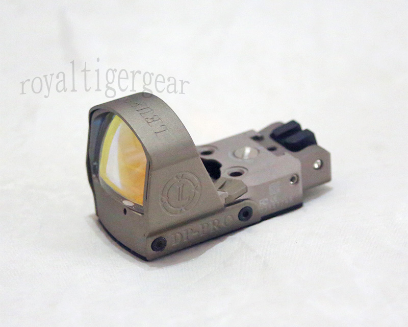 Leupold Deltapoint Pro Reflex Dot Sight with Rear Iron Sight - M1911/Picatinny Mount -Dark Earth