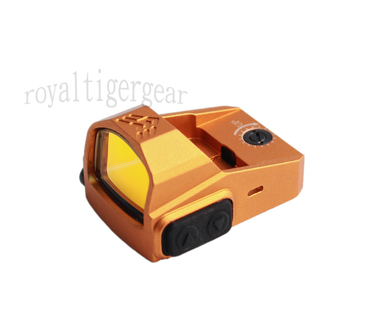 P2 Tactical Mini 1x22 Red Dot Sight Reflector with Mount RMR - Orange