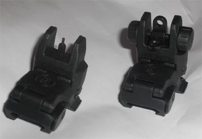 MBUS Front / Rear Sight - Black