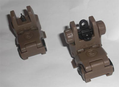MBUS Front / Rear Sight - Coyote Brown